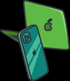 Macbook, iPhone
